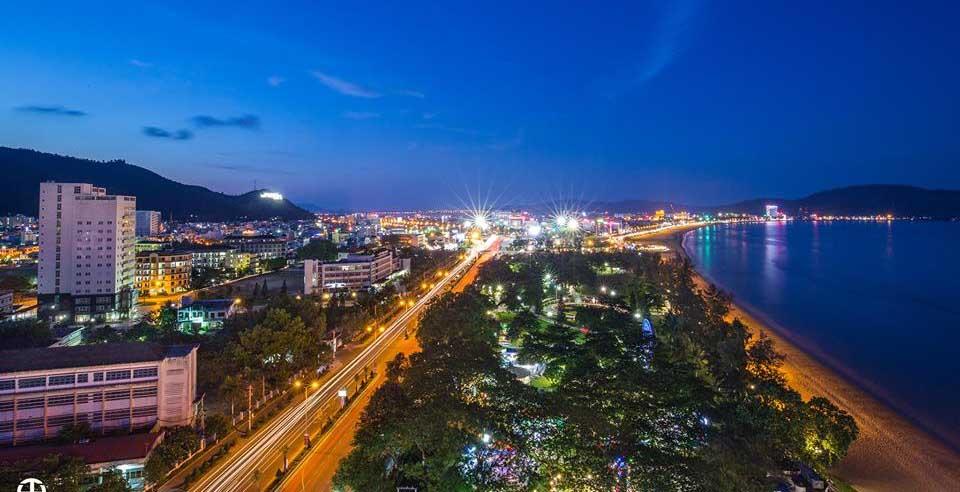 thành phố Quy Nhơn nhìn từ trên cao