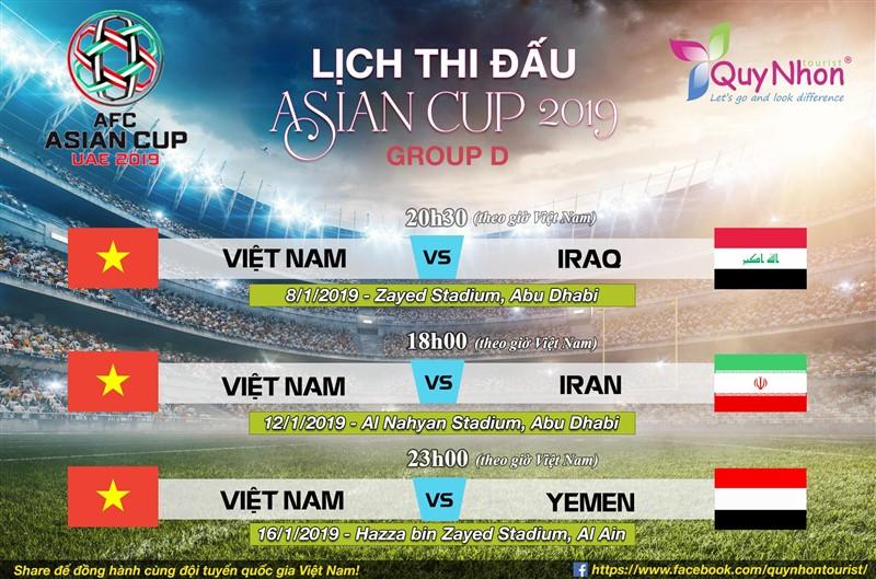 lịch thi đấu đội tuyển Việt Nam tại Asean cup 2019