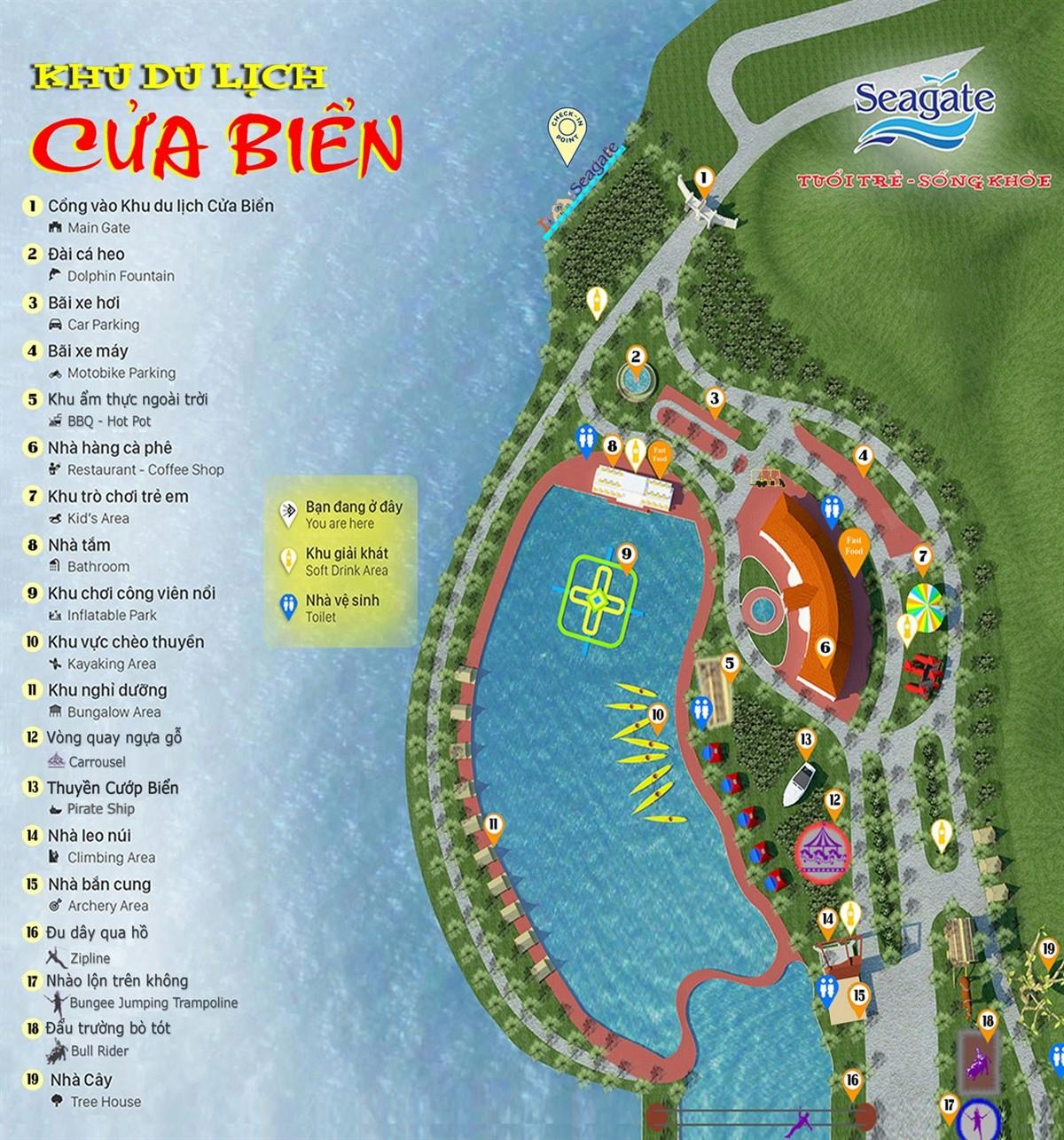 Bản đồ khu du lịch Cửa Biển Quy Nhơn