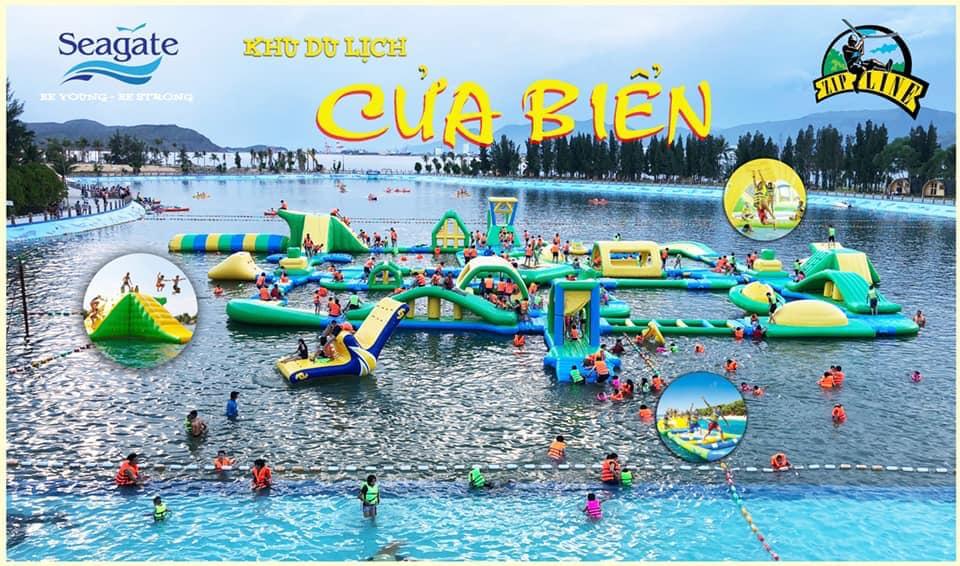 Công viên nước phao nổi khu du lịch Cửa biển