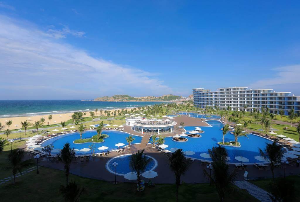 FLC Cù Lao Xanh hứa hẹn sẽ là điểm lưu trú, vui chơi lý tưởng, hấp dẫn đông đảo du khách trong nước và quốc tế.. Ảnh: FLC Cù Lao Xanh