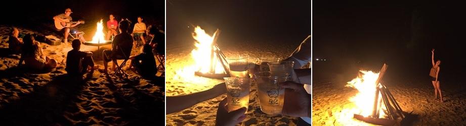 đốt lửa trại tại kỳ co quy nhơn