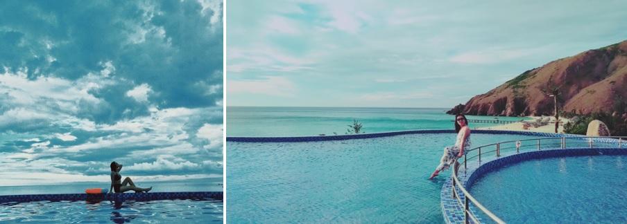 hồ bơi kỳ co resort