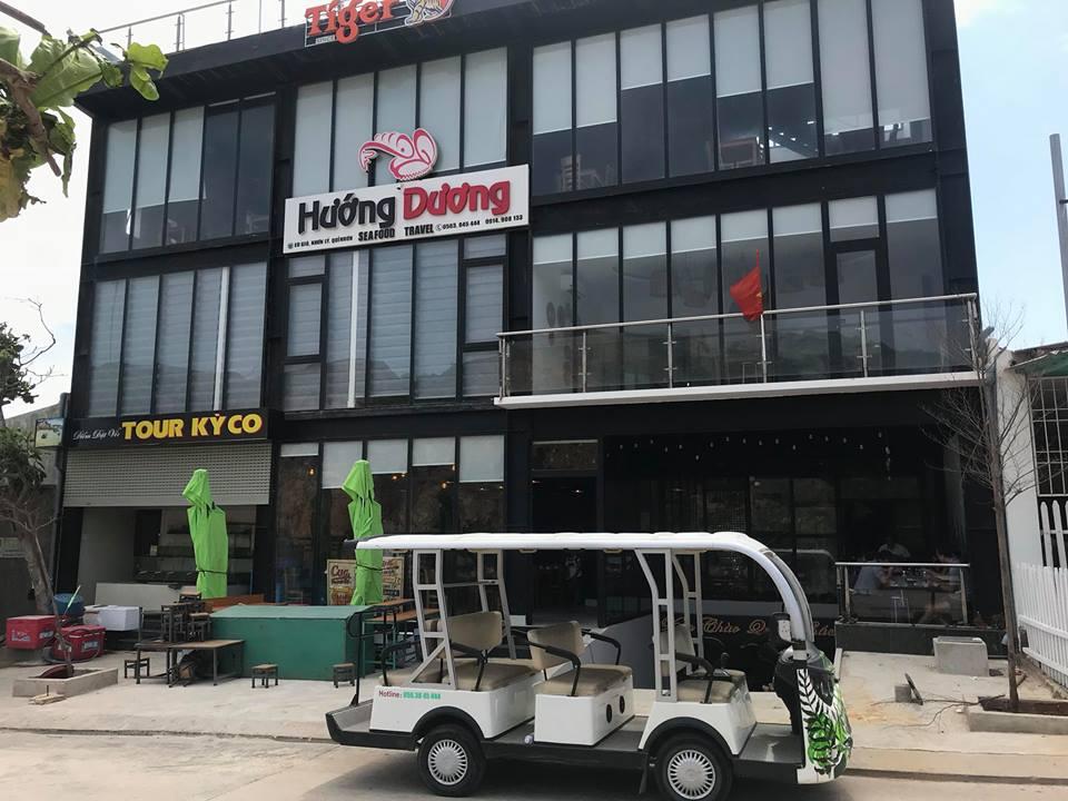 Nhà hàng Hướng Dương là một trong những nhà hàng cung cấp hải sản Eo gió ở Nhơn Lý - Ảnh: Nhà hàng Hướng Dương