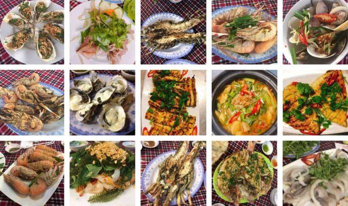 Quán hải sản Quy Nhơn được rất nhiều du khách yêu thích. Ảnh: Sưu Tầm