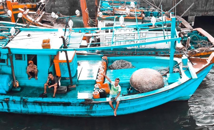 tàu gỗ đi cù lao xanh quy nhơn