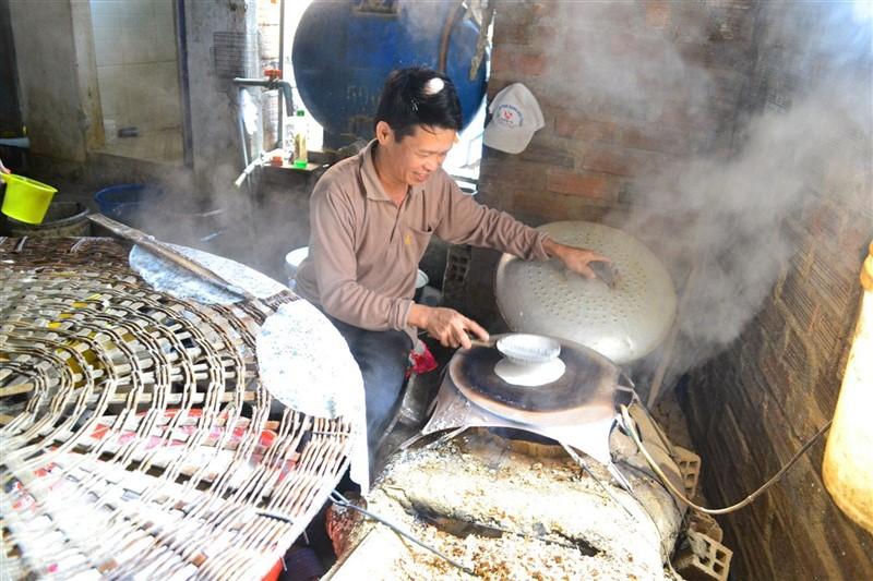 làng nghề bánh tráng Bình Định