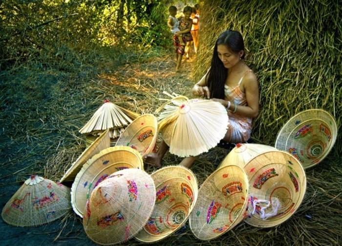 làng nghề nón Phú Gia nổi tiếng Bình Định