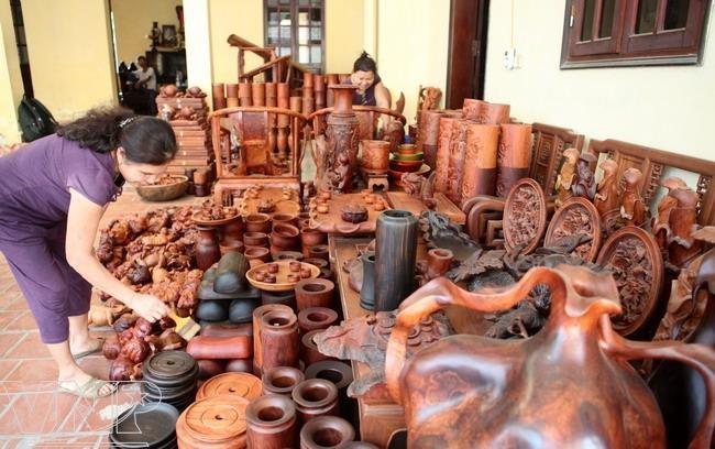 làng nghề tiện gỗ nhơn hậu - bình định