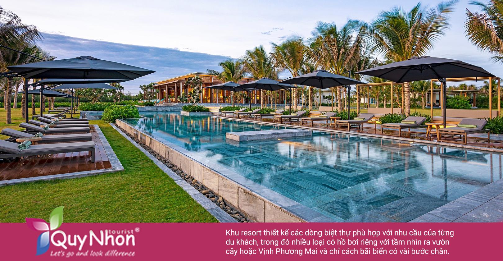 Nằm giữa khu vườn nhiệt đới ngập tràn ánh nắng, Maia Resort Quy Nhơn có tổng diện tích lên tới 125 m2 cùng khu vườn rợp bóng cây xanh ngát - Ảnh: Maia Resort Quy Nhon