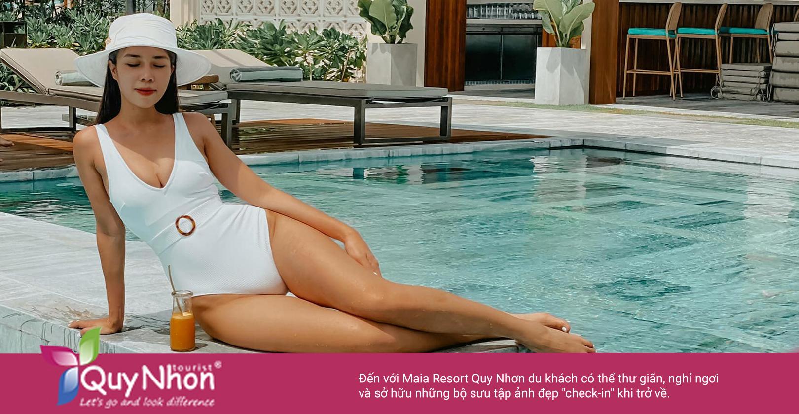 """Đến với Maia Resort Quy Nhơn du khách có thể thư giãn, nghỉ ngơi và sở hữu những bộ sưu tập ảnh đẹp """"check-in"""" khi trở về - Ảnh: Maia Resort Quy Nhon"""