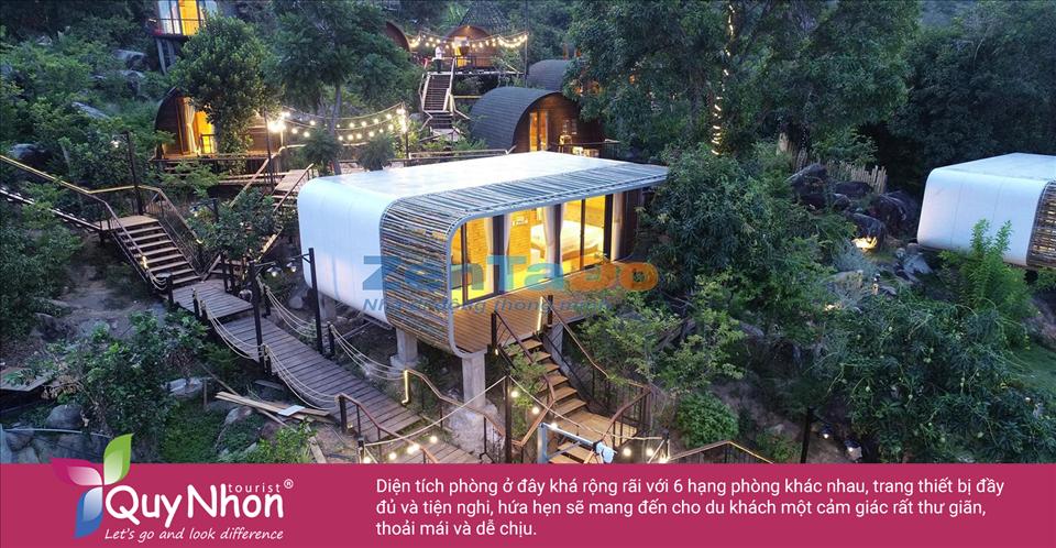 Hệ thống phòng được thiết kế theo phong cách nhà gỗ di động, gần gũi với thiên nhiên và vô cùng thoáng đãng - Ảnh: Sưu Tầm