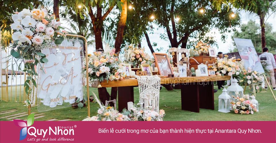 Biến lễ cưới trong mơ của bạn thành hiện thực tại Anantara Resort Quy Nhơn.