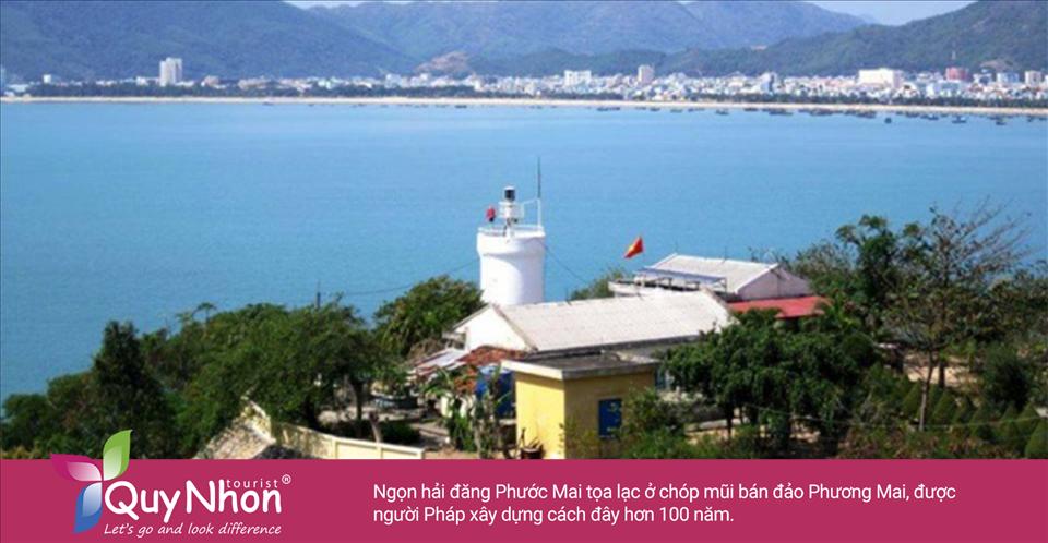 Ngọn hải đăng Phước Mai tọa lạc ở chóp mũi bán đảo Phương Mai, được người Pháp xây dựng cách đây hơn 100 năm.