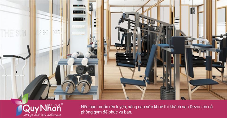 Nếu bạn muốn rèn luyện, nâng cao sức khoẻ thì khách sạn Dezon Quy Nhơn có cả phòng gym để phục vụ bạn - Ảnh: Sưu Tầm