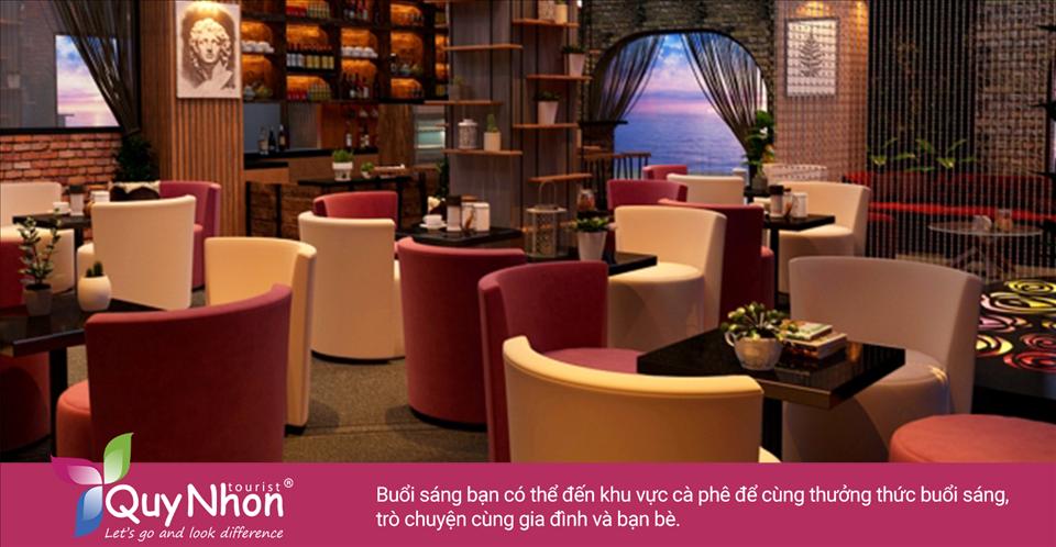 Buổi sáng bạn có thể đến khu vực cà phê của khách sạn Dezon Quy Nhơn để cùng thưởng thức buổi sáng, trò chuyện cùng gia đình và bạn bè - Ảnh: Sưu Tầm