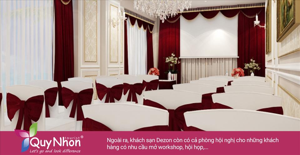 Ngoài ra, khách sạn Dezon Quy Nhơn còn có cả phòng hội nghị cho những khách hàng có nhu cầu mở workshop, hội họp,... - Ảnh: Sưu Tầm