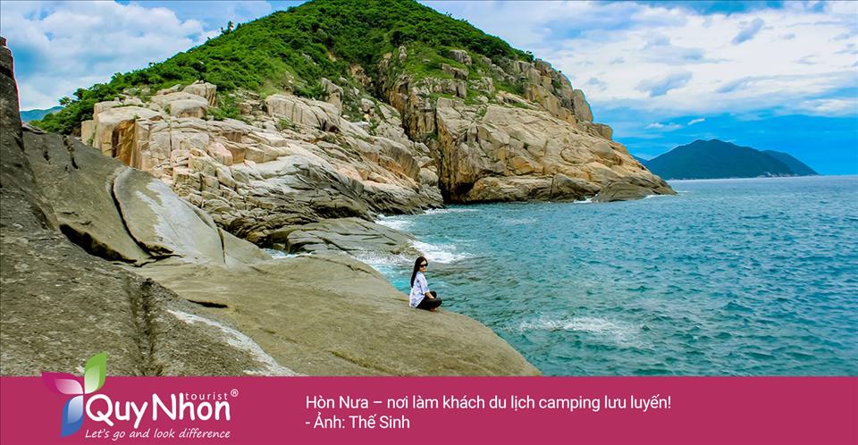 Hòn Nưa – nơi làm khách du lịch camping lưu luyến! - Ảnh: Thể Sinh