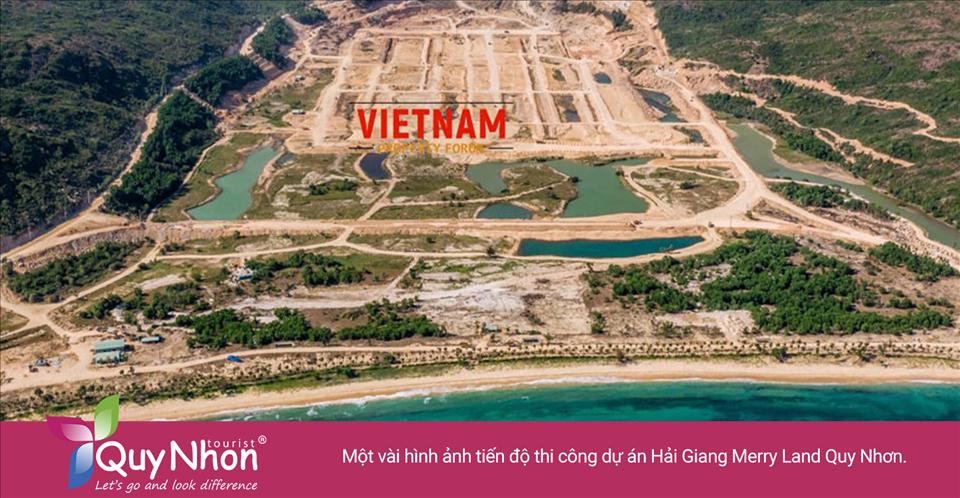 Một vài hình ảnh tiến độ thi công dự án Merry Land Quy Nhơn.