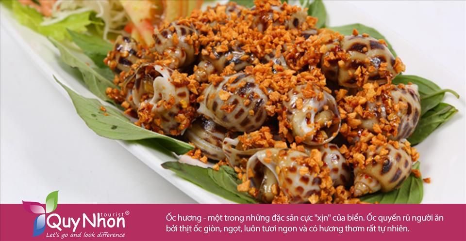 """Ốc hương - một trong những đặc sản cực """"xịn"""" của biển. Ốc quyến rũ người ăn bởi thịt ốc giòn, ngọt, luôn tươi ngon và có hương thơm rất tự nhiên."""