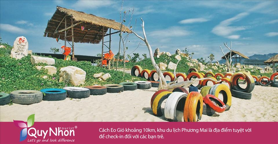 Cách Eo Gió khoảng 10km, khu du lịch Phương Mai là địa điểm tuyệt vời để check-in đối với các bạn trẻ.