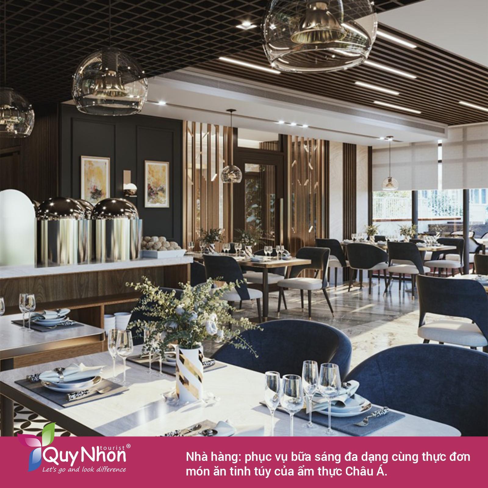 Meria Hotel Quy Nhơn - khu vực nhà hàng.