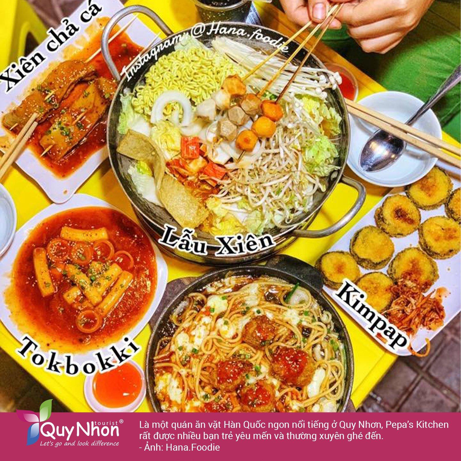 Ăn vặt Quy Nhơn - Quán Pepa Kitchen